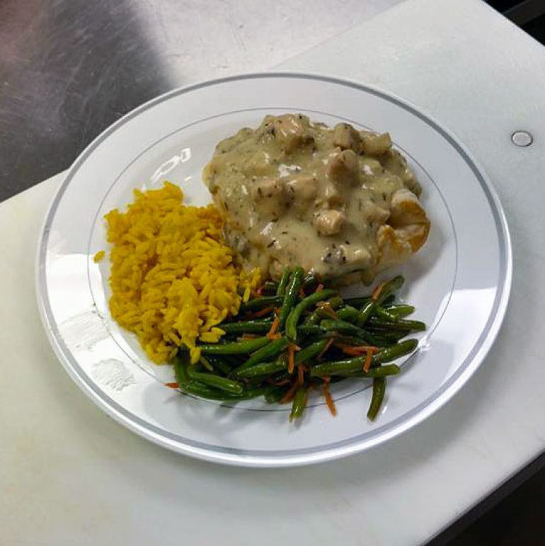 dinner-green-beans-rice-pilaf